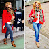 Beyonce Knowles' Red Blazer & Alexander McQueen Scarf plus GIVEAWAY (read rules to ENTER this giveaway!)