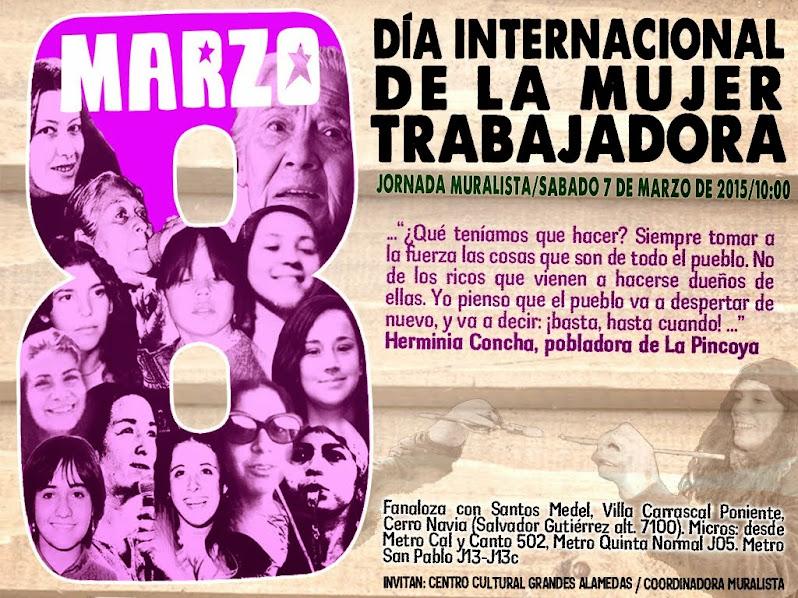 CERRO NAVIA: JORNADA MURALISTA DÍA INTERNACIONAL DE LA MUJER TRABAJADORA