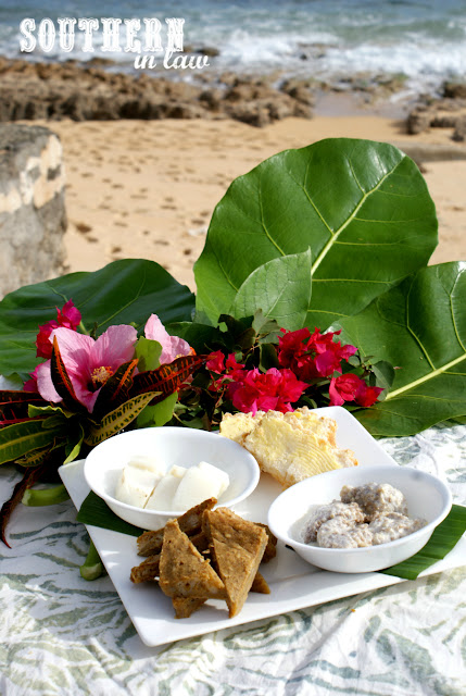 A traditional feast at Norfolk Island's Slaughter Bay