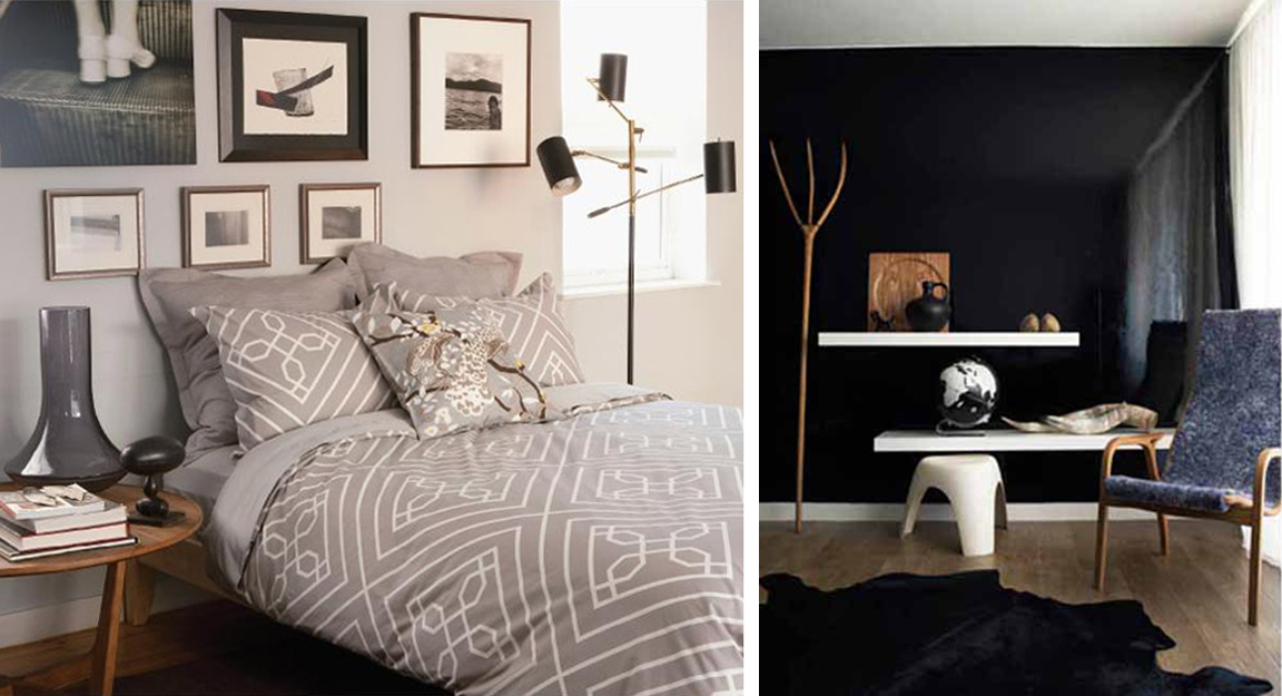 inspiration for my new bedroom black wall is happening as we speak
