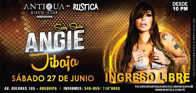 Angie Jibaja en Arequipa