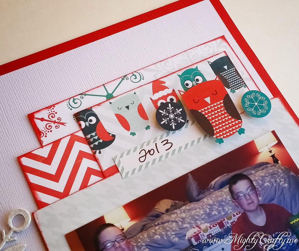 Merry Christmas layout for Sketch N Scrap -- www.MightyCrafty.me