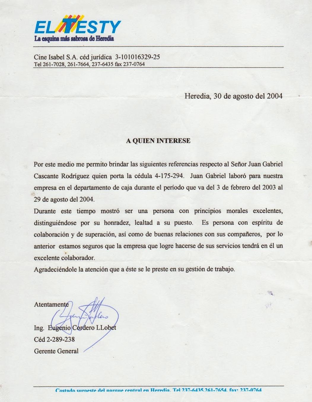 Curriculum Juan Gabriel Cascante Rodríguez. Administrador.