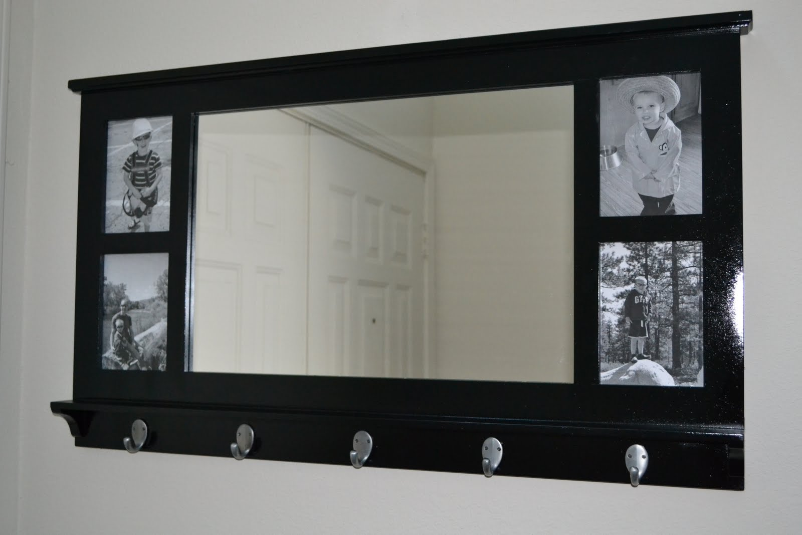 nifty thrifty thriving mirrored shelf redo. Black Bedroom Furniture Sets. Home Design Ideas