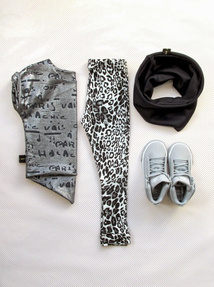 Tale of Boy edgy kids style from UK - leopard leggings combo