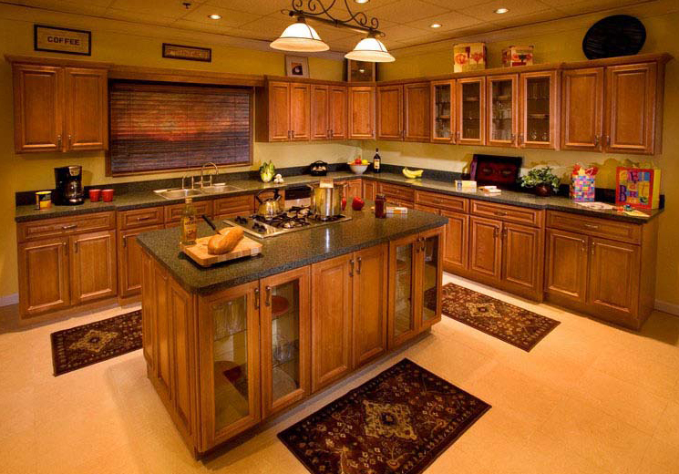Kitchen Cabinets with Wood