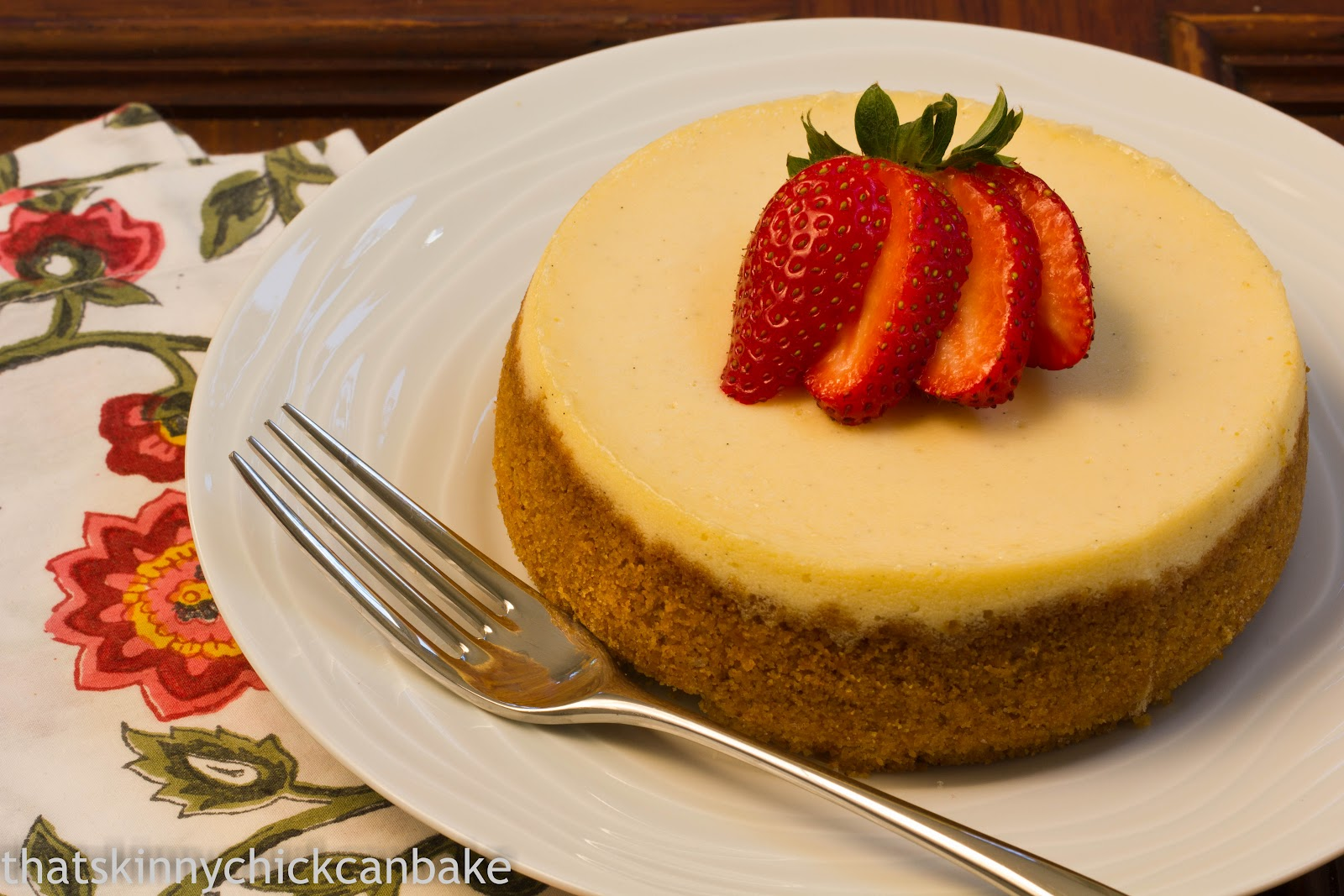Life on Food: Crème Brûlée Cheesecake with That Skinny Chick Can ...