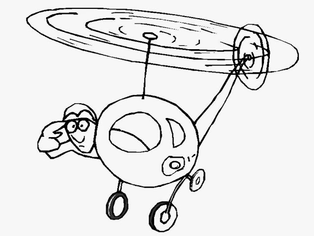 free printable helicopter coloring pages