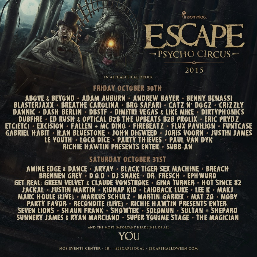 escape psycho circus adds additional artists gde