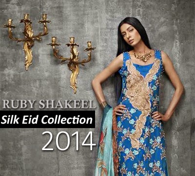 Ruby Shakeel Silk Eid Collection 2014 For Women
