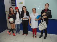 Primeira prova da Gincana, na qual os alunos deveriam vir vestidos caracterizados de uma profissão.
