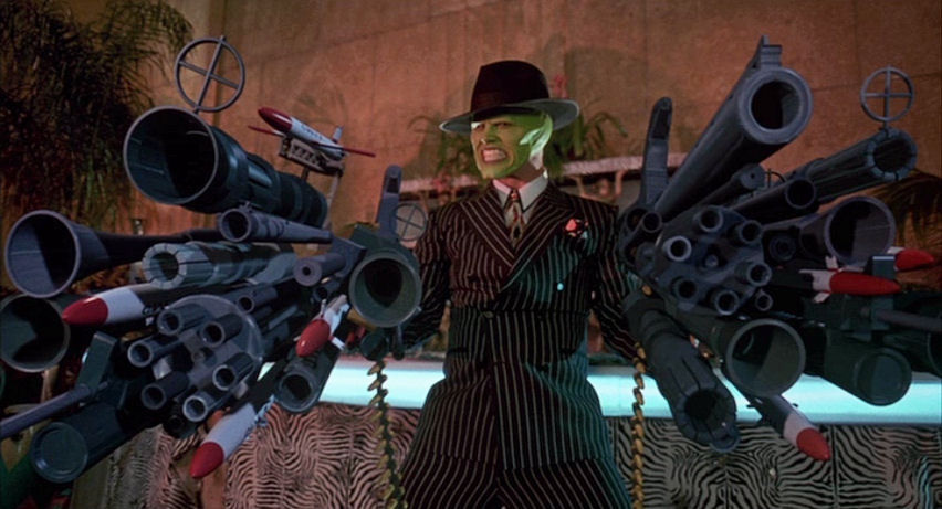 mask movie guns gif
