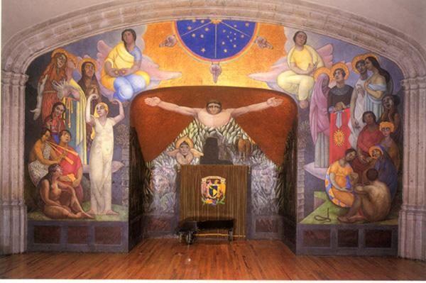 Historia del arte frida kahlo for Mural prepa 1 uaemex
