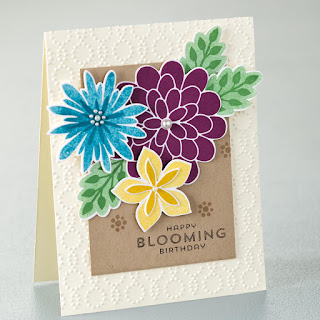 Stampin' Up! Flower Patch Birthday Card #stampinup