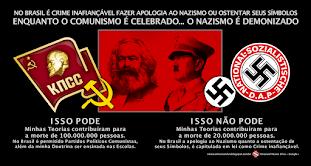 Por que no Brasil Comunismo pode... Nazismo não pode?