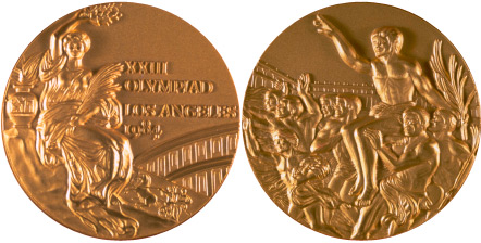 Medal Design Olympic Los Angeles 1984