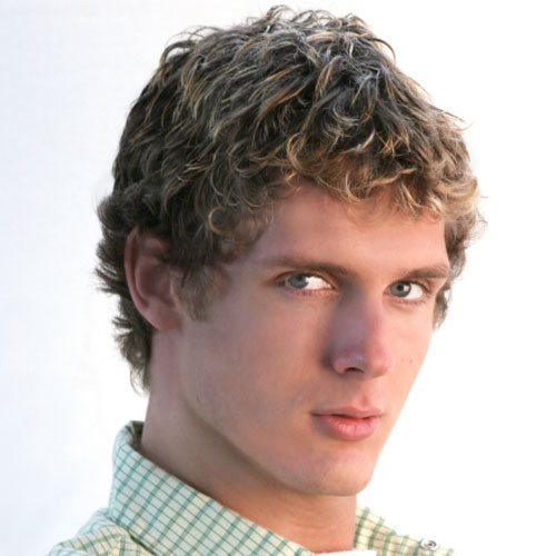 men short curly hair