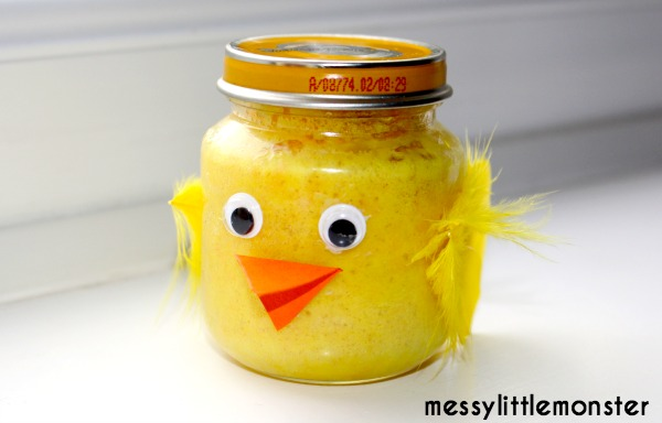 Cake in a jar edible chick