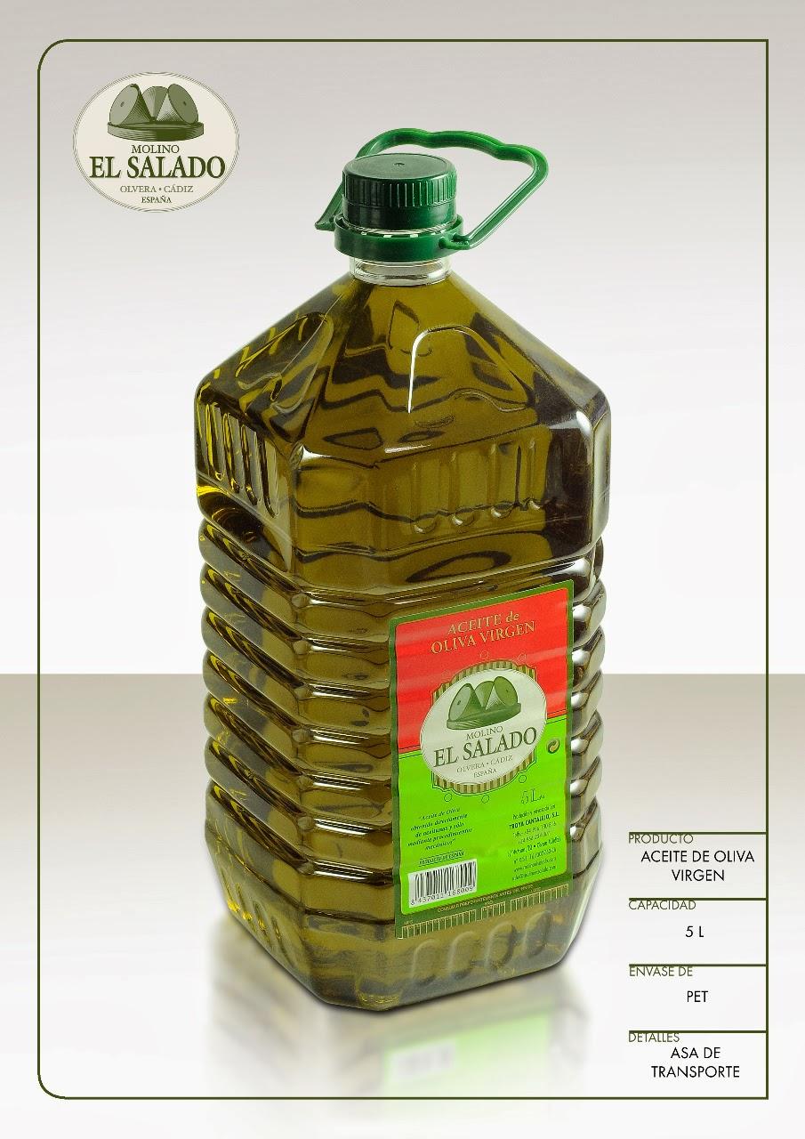 Aceites Molino El Salado garrafa 5 litos