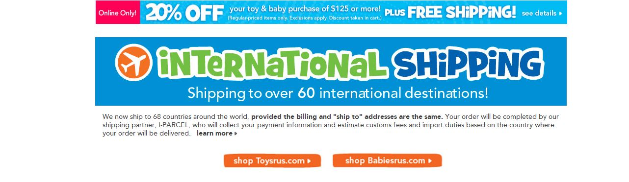 With Borderlinx, international customers can now buy Toys