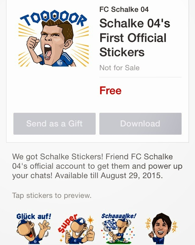 Schalke 04's First Official Stickers