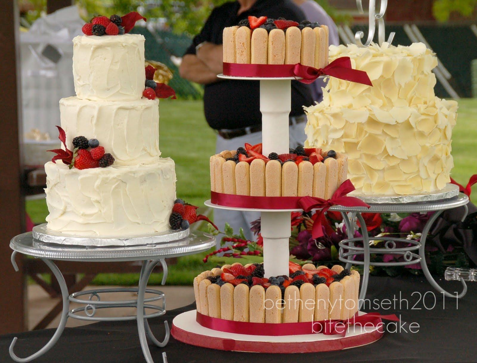 The Apothecakery Rustic Wedding Cake Trio