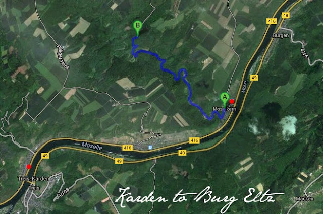 Map to Burg Eltz - The Tipsy Terrier blog