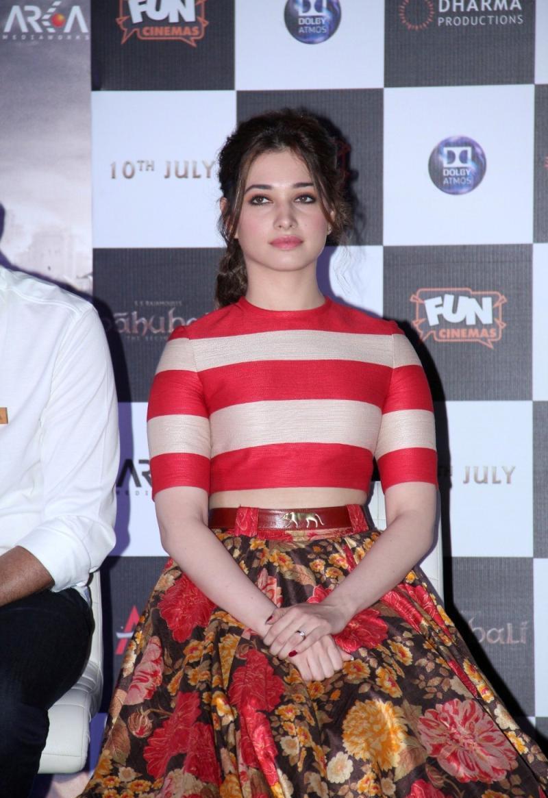 "Tamannaah Bhatia Looks Irresistibly Sexy At Film "" Baahubali"" Trailer Launch Event In Mumbai"