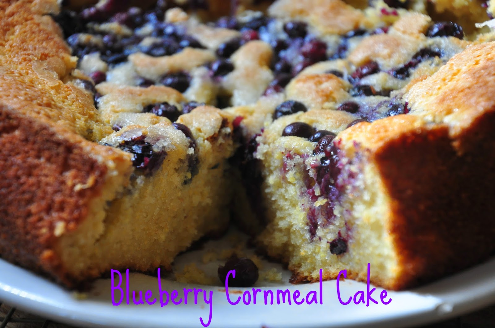 Bite Me: Blueberry Cornmeal Cake and Friday Faves