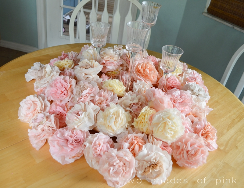 Two shades of pink coffee filter flowers and video tutorial mightylinksfo