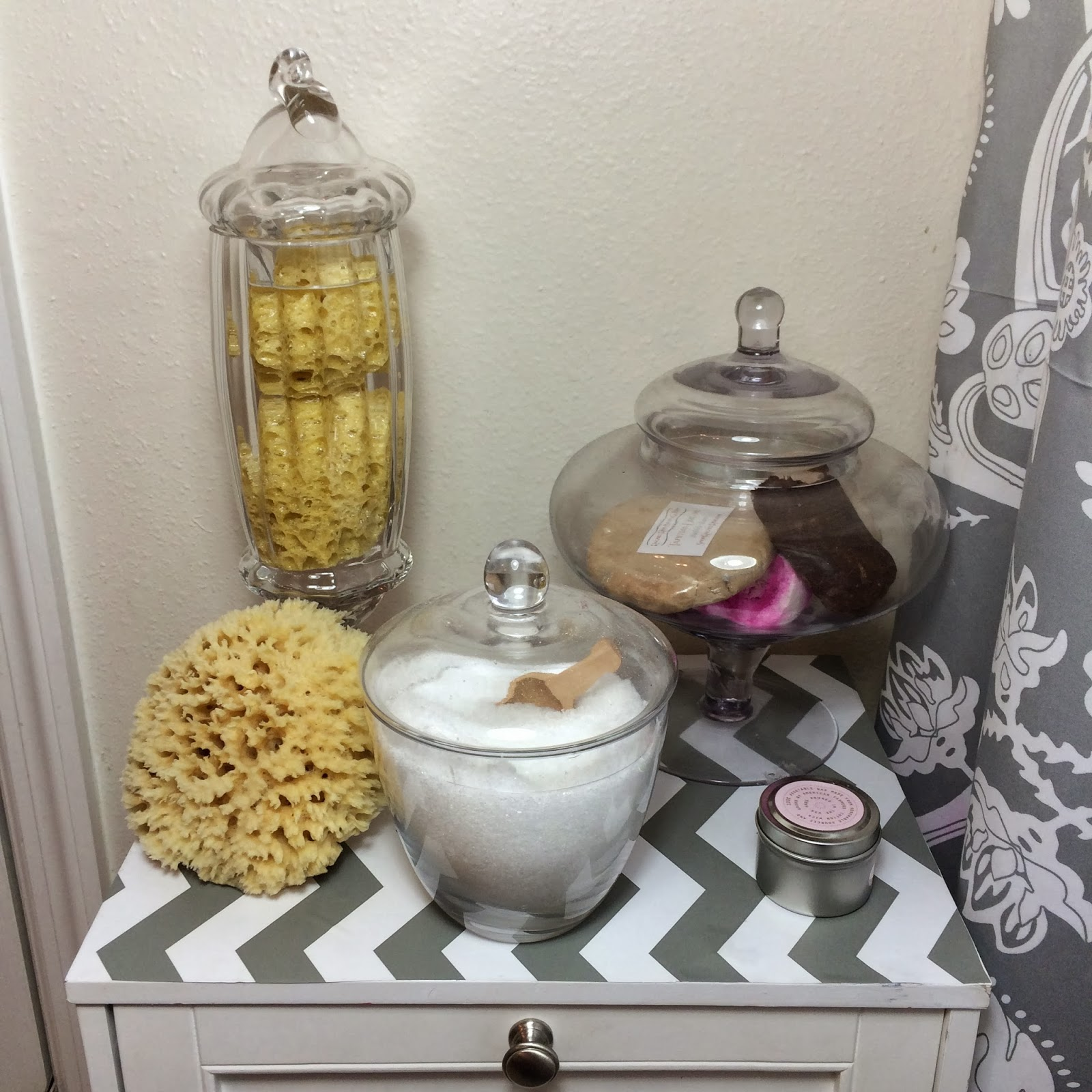 Apothecary jars for bathroom
