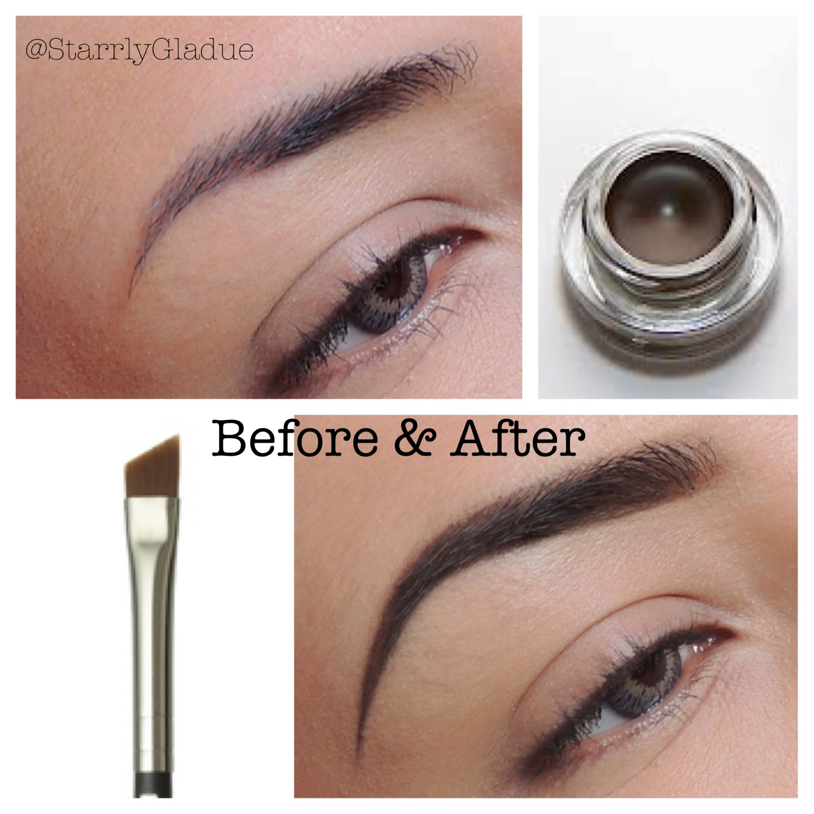 Makeup Starrly Brows Before After