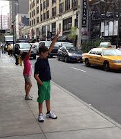 Hailing a taxi