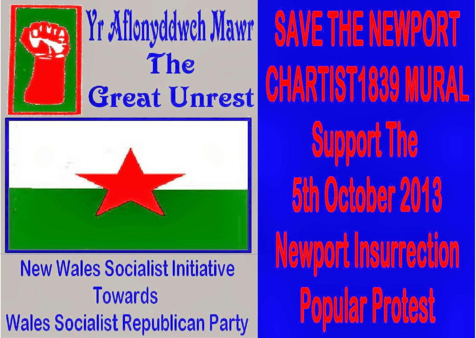 Pitchfork and pike newport insurrection day saturday 3 for Chartist mural newport