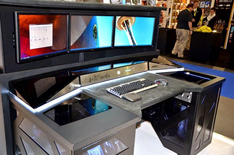 Diy Pc Desk Mods Swordfish High End Pc Gaming Desk
