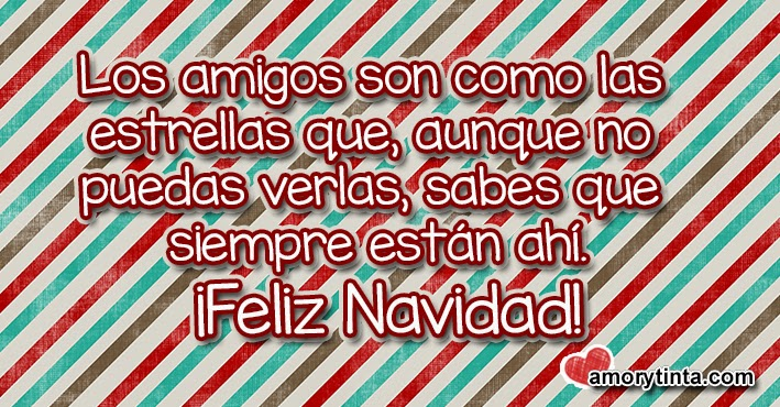 mensaje navideño para los amigos