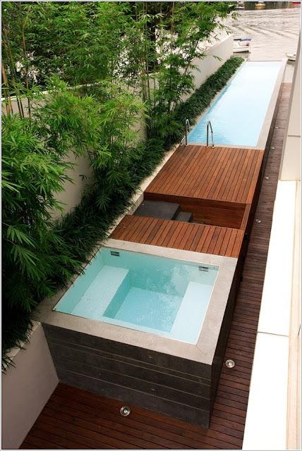 Tạo bể bơi mini cho việc thư giãn