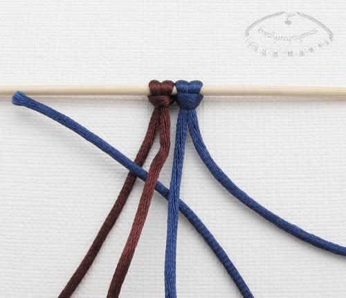 Makrama węzeł figowy 2