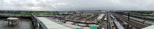 Views from the Crown Royal Pagoda Eighth Floor Suite.  #crownheroes #jww400 #reignon #nascar