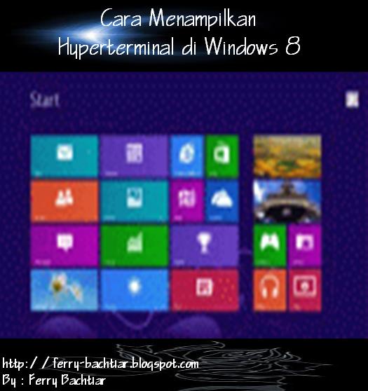 menu yang ada pada windows 8