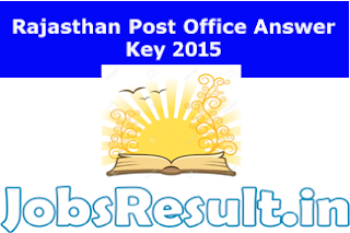 Rajasthan Post Office Answer Key 2015