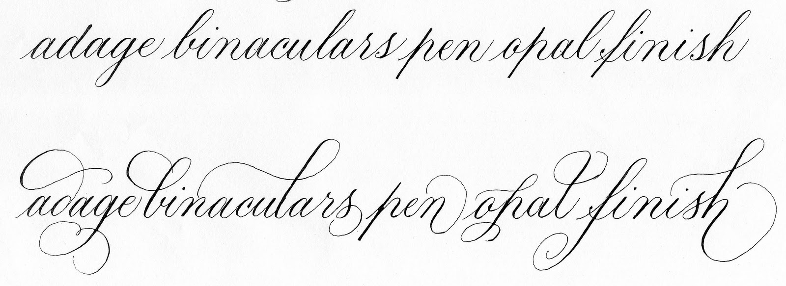 Deann singh calligraphy january copperplate
