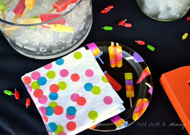Pop Up Popsicle Party napkins & plates