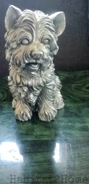 Dog Primed Black and Painted with Looking Glass Spray Paint