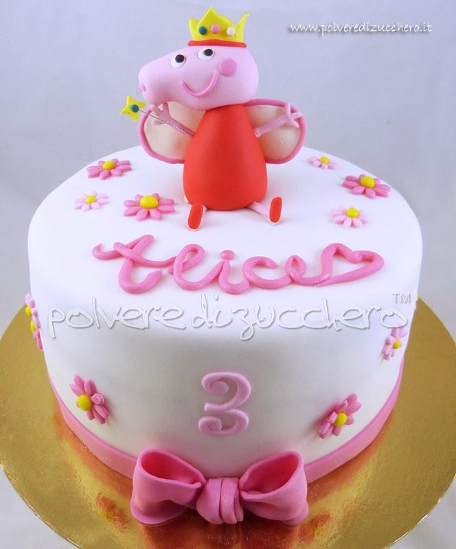 Torta peppa pig principessa polvere di zucchero cake for Decorazioni torte vendita