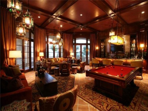 Game Room Luxury Mansion Interiors