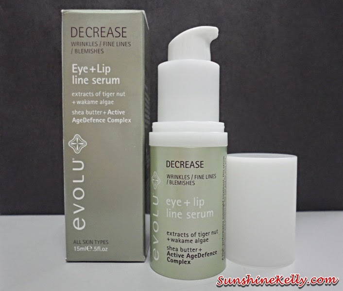Evolu Decrease Eye Lip Line Serum Review, Evolu skincare, new zealand skincare bodycare, anti aging serum, eyecare, lipcare, eye lip care, decrease line serum, anti wrinkle serum