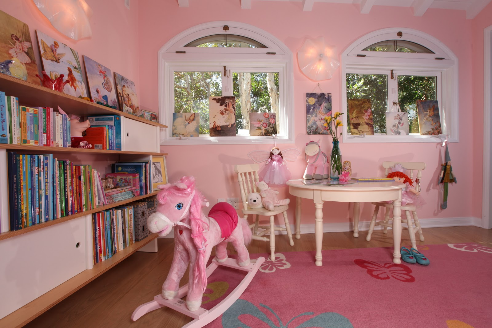 pink playroom that all little girls dream of. This shade of pink was  title=
