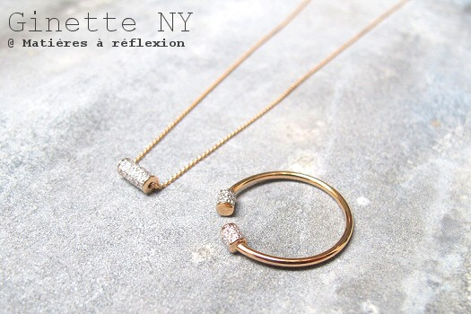 Collier Ginette NY or rose et diamants