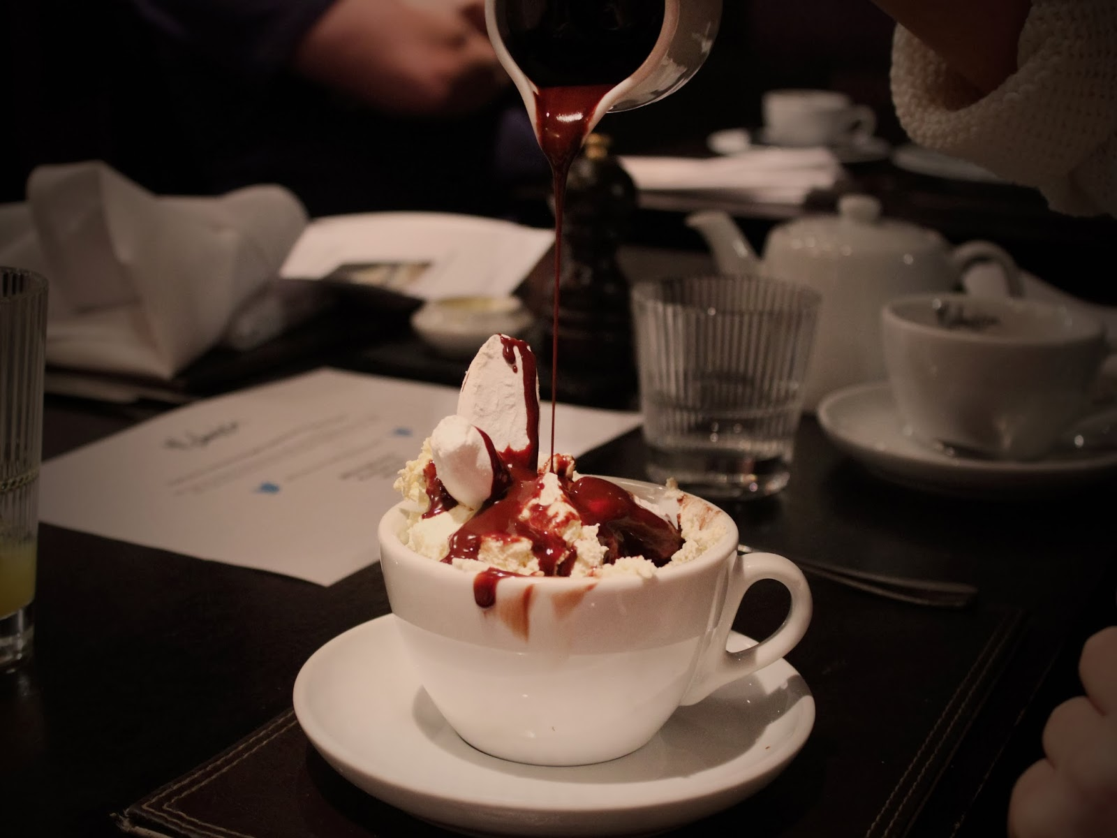 Hot Chocolate Dessert at the Malmaison Hotel in Birmingham